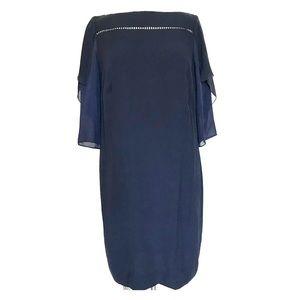 Akris Runway Black Flutter Sleeve Cocktail Dress
